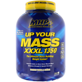 Maximum Human Performance, LLC, Up Your Mass، XXXL 1350، كريم الفانيليا الفرنسي، 6 رطل (2728 غرام)