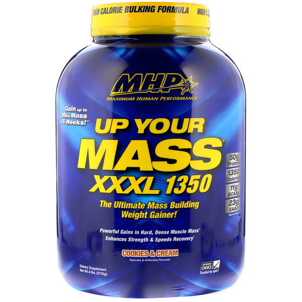 Up Your Mass XXXL 1350, Cookies & Cream, 6 lbs (2720 g)