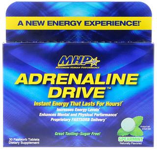 Maximum Human Performance, LLC, Adrenaline Drive, Spearmint, 30 Fastsorb Tablets