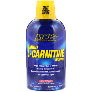 Maximum Human Performance, LLC, Liquid L-Carnitine, Mixed Berry, 1,500 mg, 16 fl oz (473 ml)
