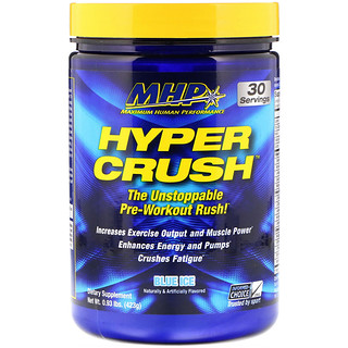Maximum Human Performance, LLC, Hyper Crush, Pre-Workout, Blue Ice, 0.93 lbs (423 g)