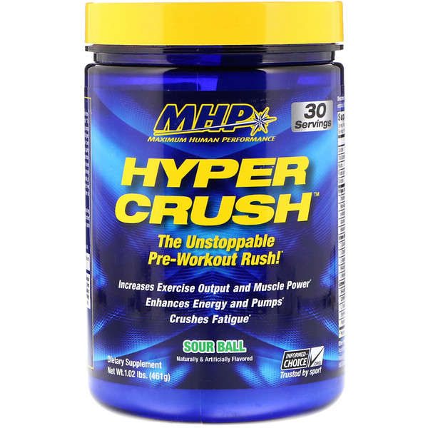 Hyper Crush, Pre-Workout, Sour Ball, 1.02 lbs (461 g)