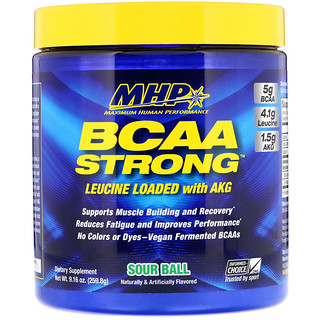 Maximum Human Performance, LLC, BCAA ストロング、サワーボール、9.16 oz (259.8 g)