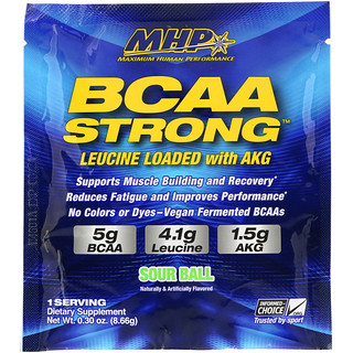 Maximum Human Performance, LLC, BCAA Strong, Sour Ball, 0.30 oz (8.66 g)