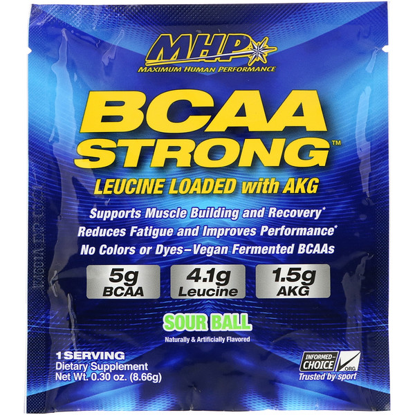 MHP, BCAA Strong, Sour Ball, 0.30 oz (8.66 g) (Discontinued Item)