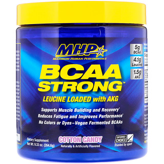 Maximum Human Performance, LLC, BCAA Strong, Cotton Candy, 9.33 oz (264.6 g)