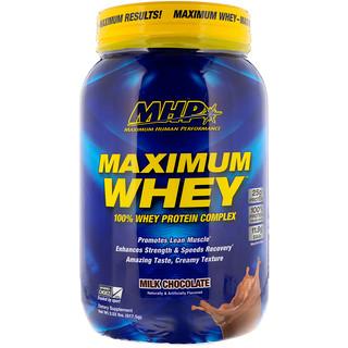 Maximum Human Performance, LLC, マキシマム ホエイ、ミルクチョコレート、2.02 lbs (917.5 g)