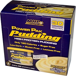 Максимум Хьюман Перворманс ЛЛС, Power Pak Pudding, Vanilla Cream, 6 Cans, 8.8 oz (250 g) Each отзывы