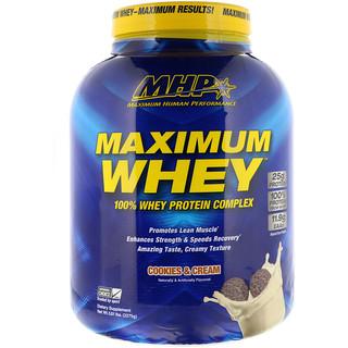 Maximum Human Performance, LLC, マキシマムホエイ、クッキー & クリーム、5.01ポンド (2275 g)