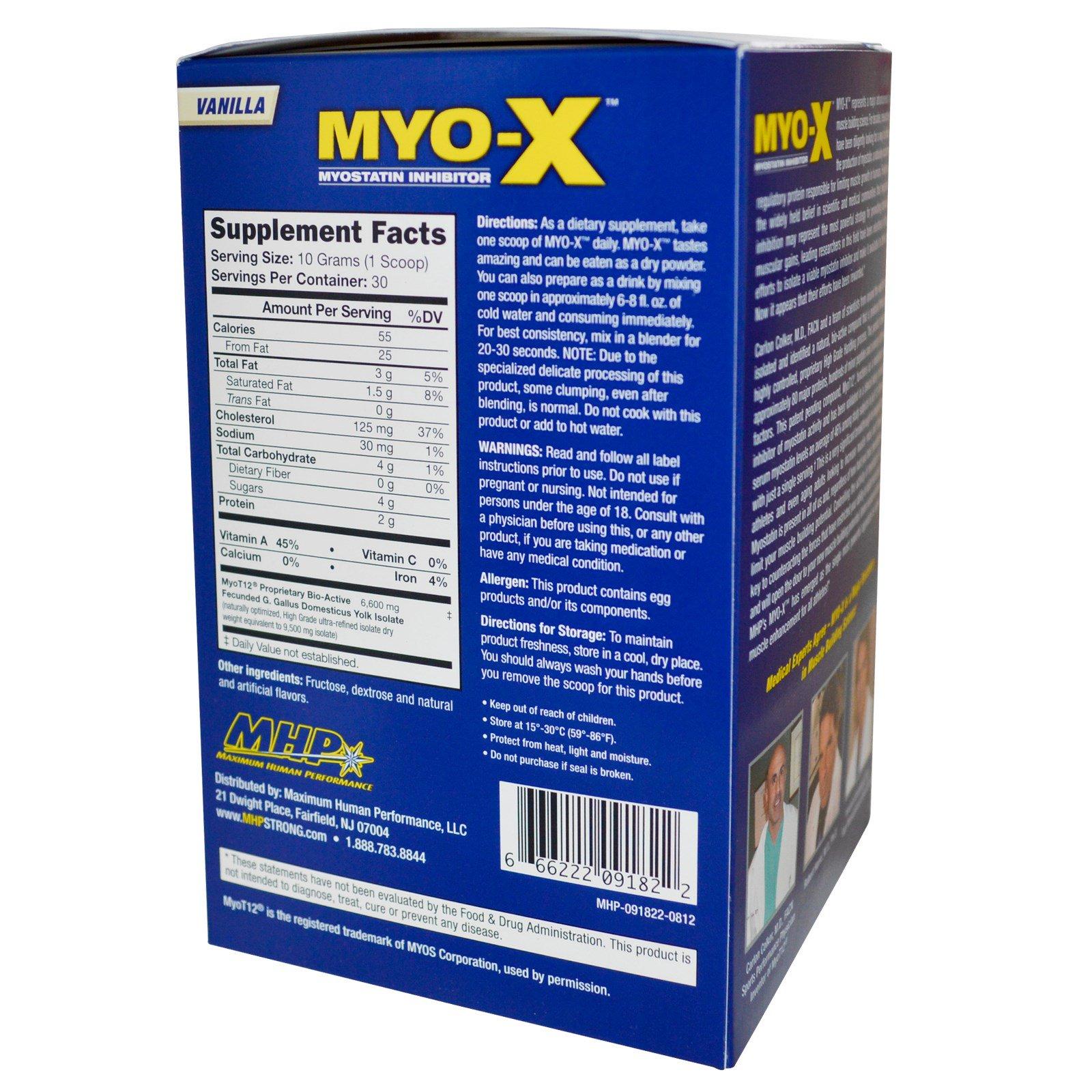 MHP, MYO-X, Myostatin Inhibitor, Vanilla, 10.6 oz (300 g ...
