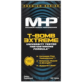 Maximum Human Performance, LLC, T-Bomb 3xtreme, 168 таблеток