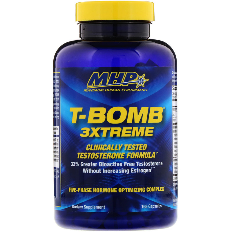 MHP, T-Bomb 3Xtreme, 168 Capsules - photo 2