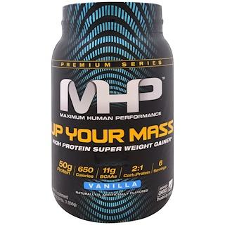 Maximum Human Performance, LLC, Up Your Mass, Vanilla, Net Wt. 2.33 lbs. (1,056g)
