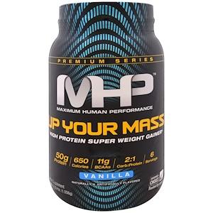 Максимум Хьюман Перворманс ЛЛС, Up Your Mass, High Protein Super Weight Gainer, Vanilla, 2.33 lbs (1,056 g) отзывы