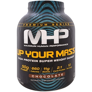 Maximum Human Performance, LLC, Up Your Mass, High Protein Super  Weight Gainer, Chocolate, 4.71 lbs (2,136 g)