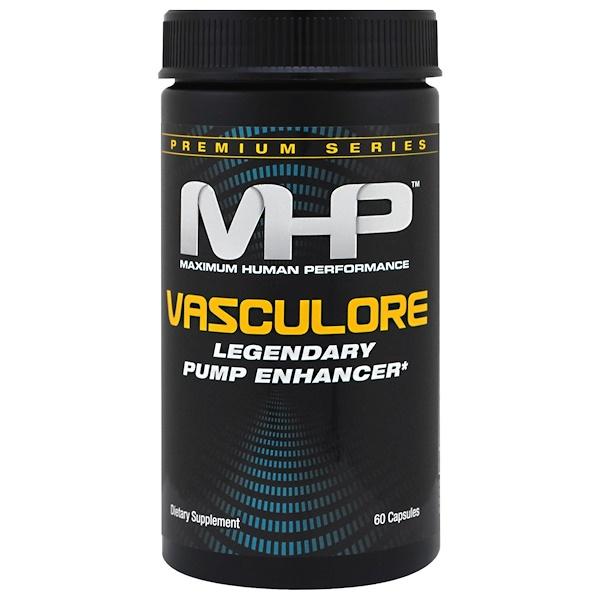 MHP, Premium Series, Vasculore, Legendary Pump Enhancer, 60 Capsules (Discontinued Item)