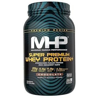 Maximum Human Performance, LLC, 슈퍼 프리미엄 유청 단백질, 초콜릿, 1.87 lbs (850 g)