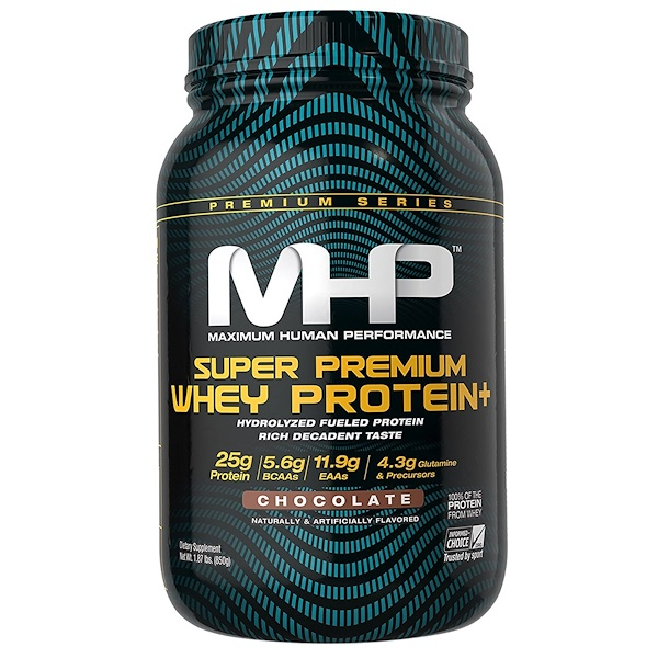 MHP, Super Premium Whey Protein, Chocolate, 1.87 lbs (850 g) (Discontinued Item)