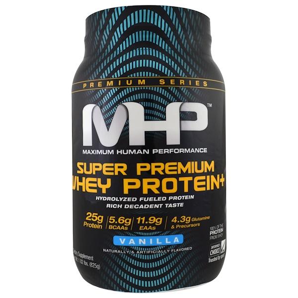 MHP, Super Premium Whey Protein, Vanilla, 1.82 lbs (825 g) (Discontinued Item)