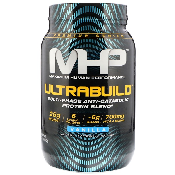 Maximum Human Performance, LLC, UltraBuild, Vanilla, 1、75 lb (792 g)