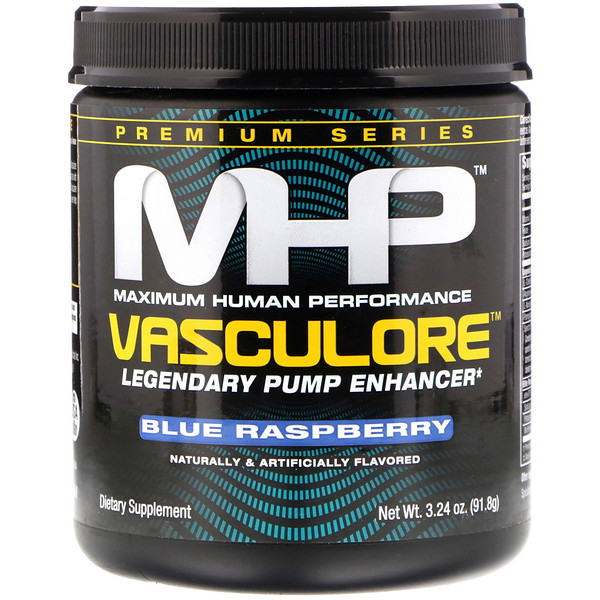 MHP, Vasculore, Legendary Pump Enhancer, Blue Raspberry, 3.24 oz (91.8 g) (Discontinued Item)