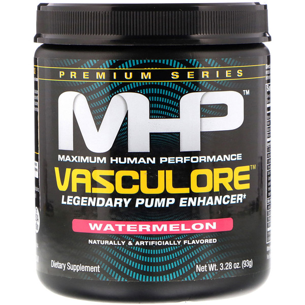 MHP, Vasculore, Legendary Pump Enhancer, Watermelon, 3.28 oz (93 g) (Discontinued Item)