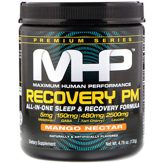 Maximum Human Performance, LLC, Recovery PM, All-In-One Sleep & Recovery Formula, Mango Nectar, 4.76 oz (135 g)