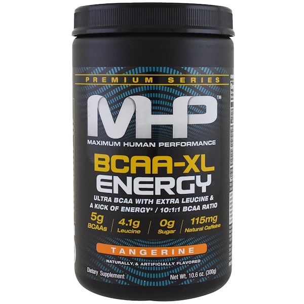 Maximum Human Performance, LLC, 優質系列,BCAA-XL能量,橘子味,10、6盎司(300克)