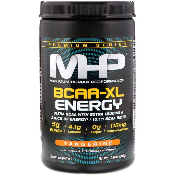 Maximum Human Performance, LLC, Premium Series, BCAA-XL Energy, Tangerine, 10.6 oz (300 g)