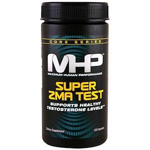 Maximum Human Performance, LLC, Тест Super ZMA, 120 капсул