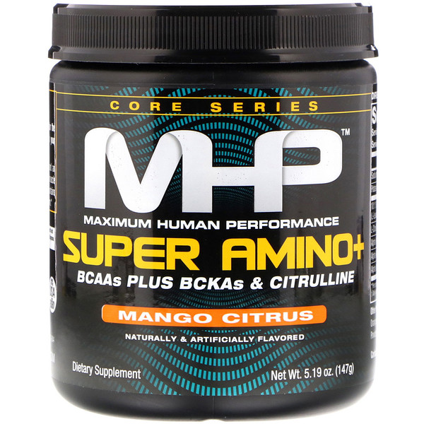Maximum Human Performance, LLC, Super Amino+, Mango Citrus, 5.19 oz (147 g)
