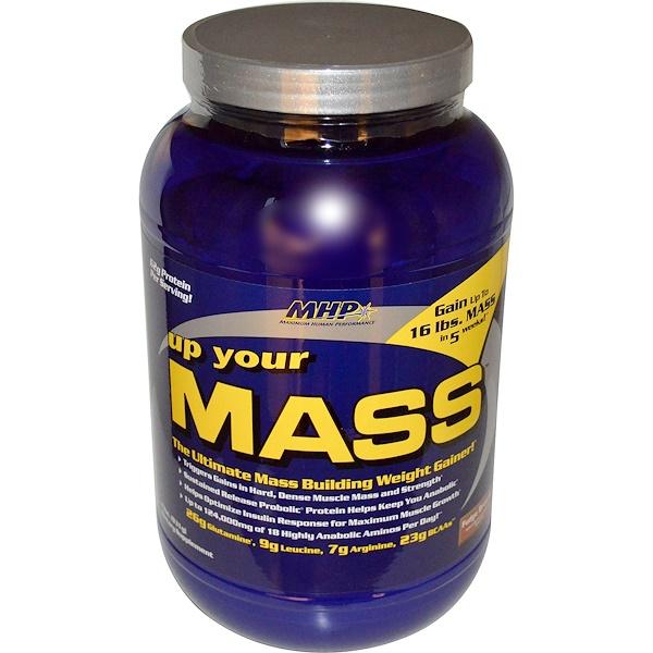 MHP, Up Your Mass, Нараститель веса , со вкусом брауни, 2 фунта (931 гр) (Discontinued Item)