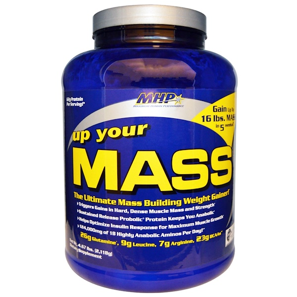 MHP, Up Your Mass, Weight Gainer, Cookies 'n Cream, 4.67 lbs (2,118 g) (Discontinued Item)