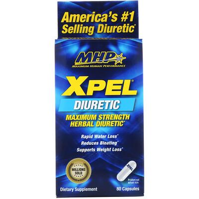 Xpel, травяной диуретик максимальной эффективности, 80 капсул