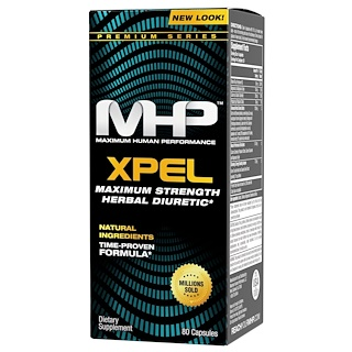 Maximum Human Performance, LLC, Xpel, Maximum Strength Diuretic, 80 Capsules
