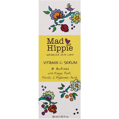 Сыворотка с витаминомС, 8активных ингредиентов, 30мл