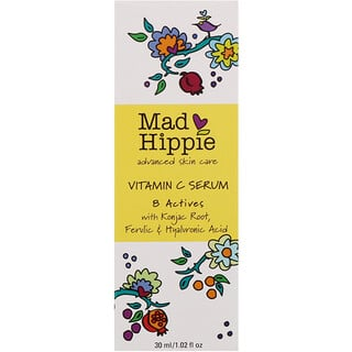 Mad Hippie Skin Care Products, Soro de Vitamina C, 8 Ativos, 1.02 fl oz (30 ml)