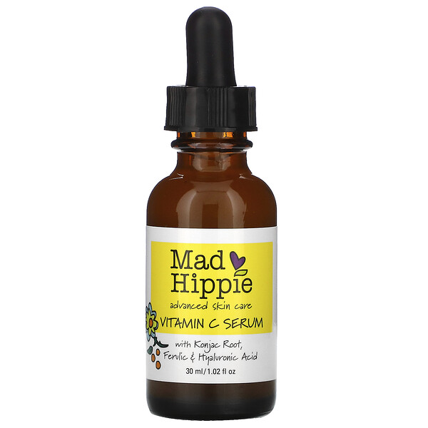 Mad Hippie Skin Care Products, 비타민C 세럼, 8가지 활성 성분, 30ml(1.02fl oz)