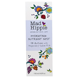 Mad Hippie Skin Care Products, Hydrating Nutrient Mist, 4 fl oz (118 ml)