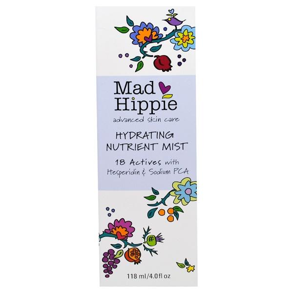 Mad Hippie Skin Care Products, Hydrating Nutrient Mist, 4 fl oz (118 ml)