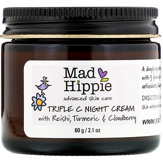Mad Hippie Skin Care Products, TripleC, ночной крем, 60г (2,1унции)