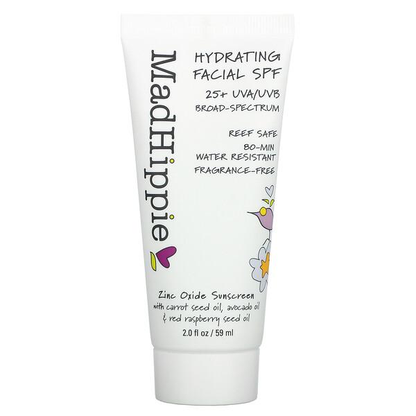 Hydrating Facial SPF 25+, Fragrance Free, 2 fl oz (59 ml)