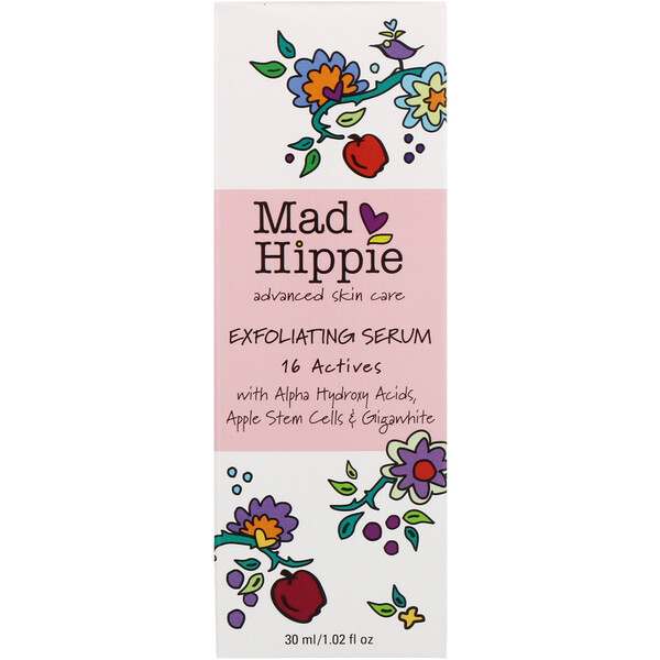 Mad Hippie Skin Care Products, سيروم مقشر، 16 محفز، 1.02 أوقية سائلة (30 مل)