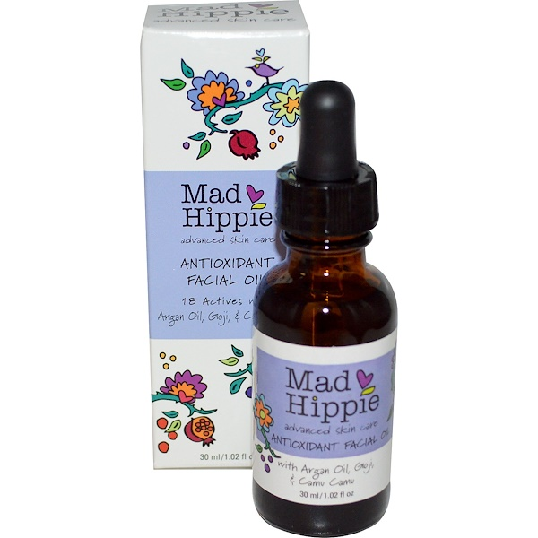 Mad Hippie Skin Care Products, Antioxidant Facial Oil, 1.02 fl oz (30 ml)
