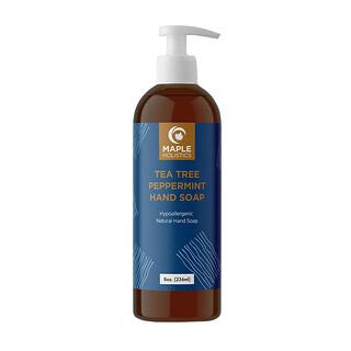 Maple Holistics, Hand Soap, Tea Tree Peppermint, 8 oz (236 ml)