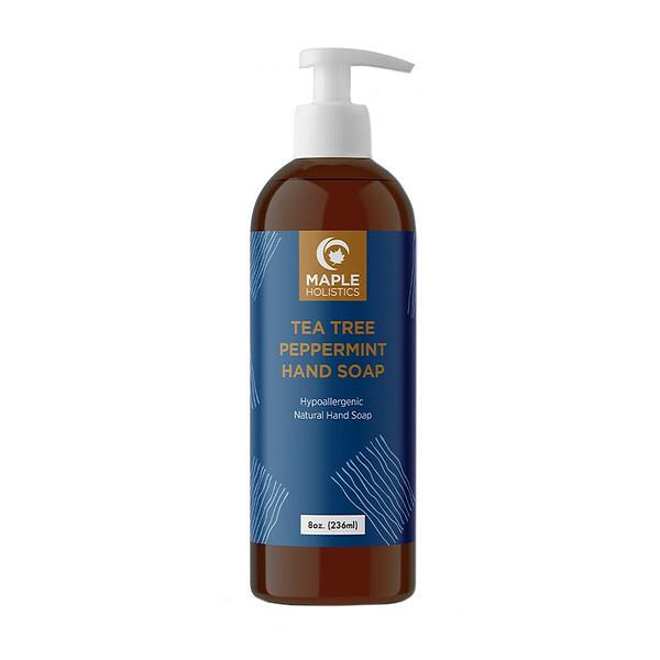 Hand Soap, Tea Tree Peppermint, 8 oz (236 ml)
