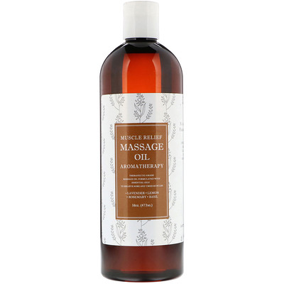 Купить Maple Holistics Muscle Relief Massage Oil, Aromatherapy, 16 oz (473 ml)