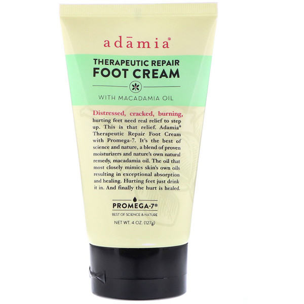 Therapeutic Repair Foot Cream with Macadamia Oil, 4 oz (127 g)