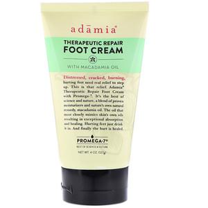 Adamia, Therapeutic Repair Foot Cream with Macadamia Oil, 4 oz (127 g) отзывы