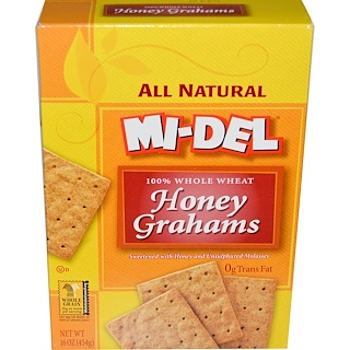 Mi-Del Cookies, Honey Grahams, 16 oz (454 g)